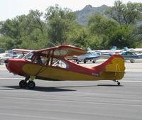 N1337E @ SZP - 1946 Aeronca 7AC CHAMPION, Continental A&C65 65 Hp, taxi off the active - by Doug Robertson