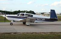 N1031M @ LAL - Mooney M20M - by Florida Metal