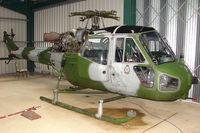 G-BWLX @ EGTW - 1963 Westland Helicopters Ltd WESTLAND SCOUT AH1 wears searial XV134