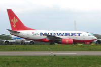 SU-MWC @ EGBP - Air Midwest - 1999 B737 - 600 series -at Kemble - surely not for scrapping !!!