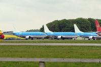 PH-BDA @ EGBP - KLM B737s PH-BDA / C/ D - Three of the aircraft awaiting the scrapman's axe at Kemble