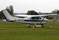 G-GCYC @ EGBP - 1980 Reims Aviation Sa REIMS CESSNA F182Q noted at Kemble on Vintage Aircraft Fly-In day