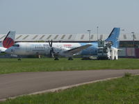 G-BTPL @ EGBE - In Magic BLue Cargo livery never been operational