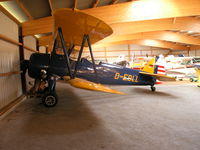 D-EDLL @ EDLI - In a hangar at Bielefeld