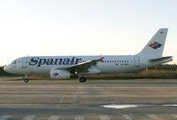 EC-HRP @ ESOE - Airbus A320 (Charter from Örebro Airport) - by Hans Spritt