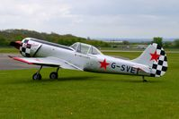 G-SVET @ EGBP - 1982 Yakovlev YAK-50 gave Flying Display at the Great Vintage Flying Weekend at Kemble