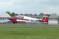 G-BXLN @ EGBP - 1967 Sportavia-putzer Gmbh FOURNIER RF4D takes off after the Great Vintage Flying Weekend at Kemble