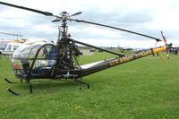 N5315V @ EGBP - 1956 Hiller UH-12C - Former LAPD machine - at the Great Vintage Flying Weekend at Kemble