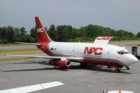 N321DL @ HKY - Northern Air Cargo Boeing 737-200 on the ramp offloading cargo in Hickory, NC.