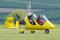 G-CGIX @ EGLS - taxying out at Old Sarum Airfield