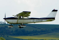 G-ASNW @ EGLS - 1964 Reims Aviation Sa CESSNA F172E at Old Sarum Airfield - by Terry Fletcher