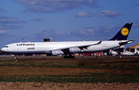 D-AIFB @ LFBO - Delivery day with additional patch for the 30th A340 for Lufthansa delivered - by Shunn311