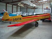 D-EHTW @ EDKM - Inside hangar Meschede-Schüren - by ghans