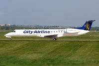 SE-RAD @ EGBB - City Airlines EMB145 about to depart from Birmingham