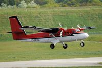 C-GPOQ @ EGBB - Kenn Boerk Twin Otter climbs through the heat haze on departure from Birmingham - by Terry Fletcher