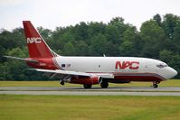 N321DL @ HKY - Northern Air Cargo Boeing 737-200 landing on runway 24 at Hickory, NC.