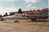 67-0032 @ MHZ - EF-111A Raven named Black Sheep of 42nd Electronic Combat Squadron on display at the 1989 RAF Mildenhall Air Fete. - by Peter Nicholson