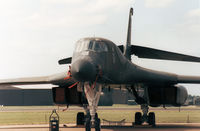 86-0114 @ MHZ - B-1B Lancer named Wolfhound and callsign Norse 13 of 319th Bombardment Wing at Grand Forks AFB on the flight-line at the 1989 RAF Mildenhall Air Fete. - by Peter Nicholson