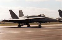 188739 @ MHZ - CF-18A Hornet of 409 Squadron Canadian Armed Forces on the flight-line at the 1989 RAF Mildenhall Air Fete. - by Peter Nicholson