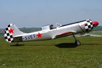 G-SVET @ EGHA - 1982 Yakovlev YAK-50 - display aircraft at Compton Abbas on 2010 French Connection Fly-In Day