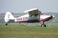 N6830B @ EGHA - Piper PA-22-150, c/n: 22-4128 at Compton Abbas on 2010 French Connection Fly-In Day