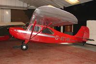 G-ATHK @ EGHA - 1946 Aeronca Aircraft Corporation AERONCA 7AC at Compton Abbas base