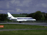 CS-DLH @ EDI - Netjets Falcon 2000EX Lined halfway up runway 06 - by Mike stanners