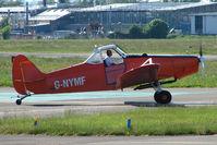 G-NYMF @ EGBJ - Nymfield based Pawnee at Staverton to launch based Glider