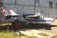 G-BCBZ @ EGBJ - 1968 Cessna CESSNA 337C - looking its age