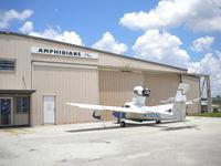 N1105L @ KBOW - 1975 Consolidated Aeronautics Inc. LAKE LA-4 s/n 696 - by MustangoRP