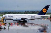 D-AIMA @ LOWW - Lufthansa Airbus A380 Frankfurt am Main; first time an A380 visited Vienna :D - by Hannes Tenkrat