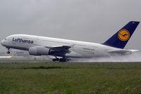 D-AIMA @ LNZ - Lufthansa Airbus A380-841 - by Joker767