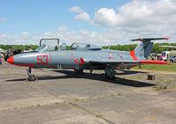 66654 @ X3BR - Aero L-29 Delphin (c/n 395189). Former Romanian Air Force aircraft. Bruntingthorpe. - by vickersfour