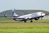 TC-SUI @ LOWL - SunExpress Boeing B737-8CX in new livery, take off to LTAI/AYT - by Janos Palvoelgyi