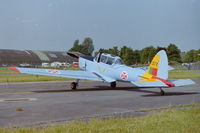 G-BARS @ EGBP - Previously WK520 now in Portuguese AF markings (1377) at the Classic Jets Airshow, Kemble - by Roger Winser