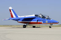 E46 @ LFMI - Unlike most Patrouille de France aircraft E36 does not have a registration in the F-TER series. Ir carries F-UHRF on the fuselage.