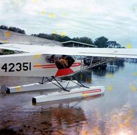 N42351 - At Lake Iola, Florida, 1968, pilot and owner Tom McCabe in rear seat, passenger Norman Carey in front seat. - by Charles H. Carey