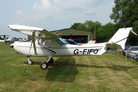 G-FIFO @ EGHP - 1981 Cessna CESSNA 152, c/n: 152-85177 seemed to have received recent damage