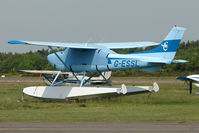 G-ESSL @ EGLK - 1981 Cessna CESSNA 182R, c/n: 182-67947 on floats at Blackbushe