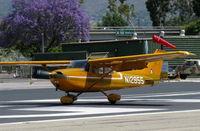 N12955 @ SZP - 1973 Cessna 172M, Lycoming O-320-E2A 150 Hp, landing roll Rwy 22 - by Doug Robertson