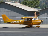 N12955 @ SZP - 1973 Cessna 172M, Lycoming O-320-E2A 150 Hp, taxi - by Doug Robertson