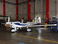 G-BYUM @ ADX - 1EFTS Tutor in the hanger at its home base - by Mike stanners