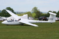 G-CKGX @ X3HU - Schleicher ASK 21 at the Coventry Gliding Club - by Chris Hall