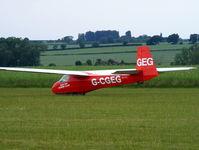 G-CGEG @ X4DT - Schleicher K 8B at the Darlton Gliding Club - by Chris Hall