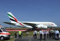 A6-EDJ @ EDDB - Airbus A380-861 of Emirates at ILA 2010, Berlin - by Ingo Warnecke