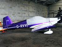 G-RVVI @ EGBN - owned by British Superbike Champion, John Reynolds - by Chris Hall