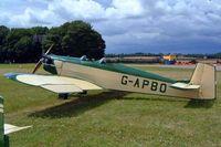 G-APBO @ EGBP - Druine D.53 Turbi [PFA 229] Kemble~G 10/07/2004. Seen at the PFA rallye 2004. - by Ray Barber