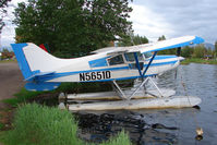 N5651D @ LHD - 1983 Maule M-6-235, c/n: 7438C on Lake Hood