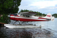N9MT @ LHD - 1949 Cessna 195, c/n: 7394 on Lake Hood