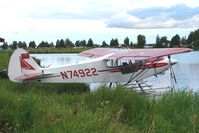 N74922 @ LHD - 1975 Piper PA-18-150, c/n: 18-7509097 moored on Lake Hood